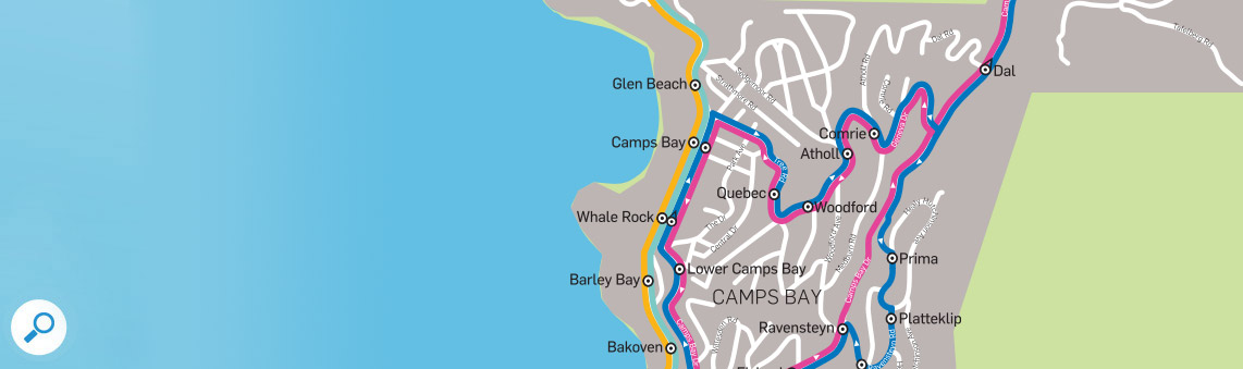 MiCity Bus Route to and from Camps Bay - Holiday Accommodation in Self Catering Villas and Apartments
